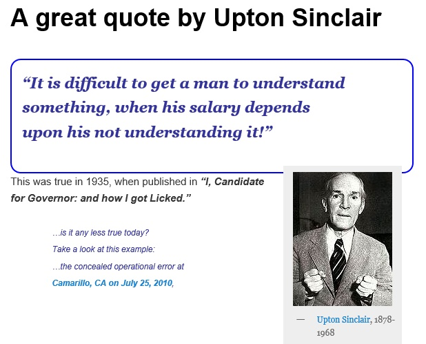 20130821.. 'Great Quote by Upton SInclair' (screencap of aiREFORM Post)