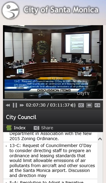 20150512scp.. Santa Monica City Council video & agenda item 13-C [KSMO]