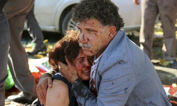 20151010.. Two survivors of Bomb attack on Peace March in Ankara, Turkey