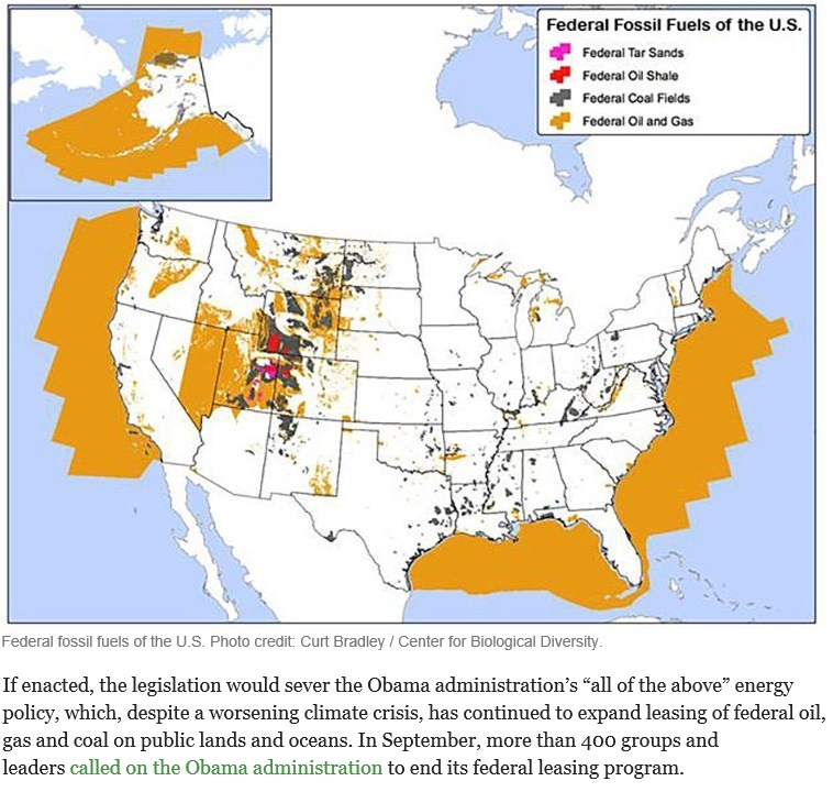 20151117scp.. 'Keep Fossil Fuels in the Ground Act' w map of U.S. fossil fuel locations