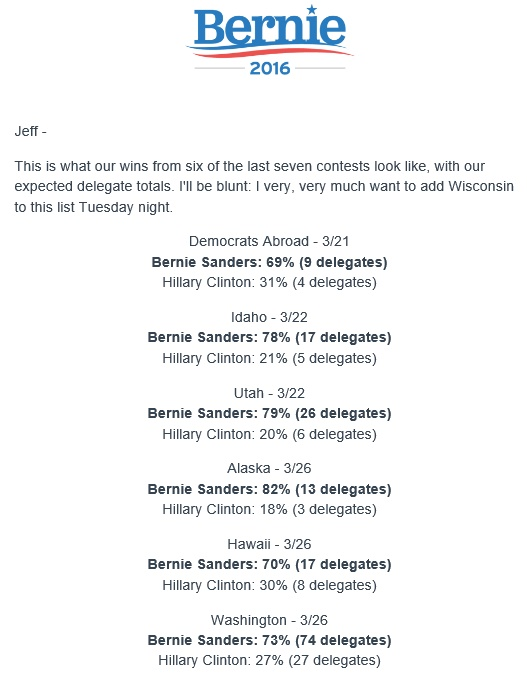 20160403scp.. winning percentages ID,UT,AK,HI,WA & abroad (email from B.Sanders campaign)