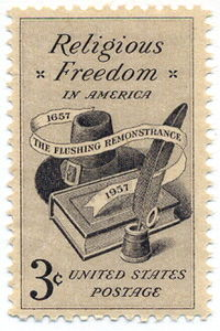 'Flushing Remonstrance' stamp