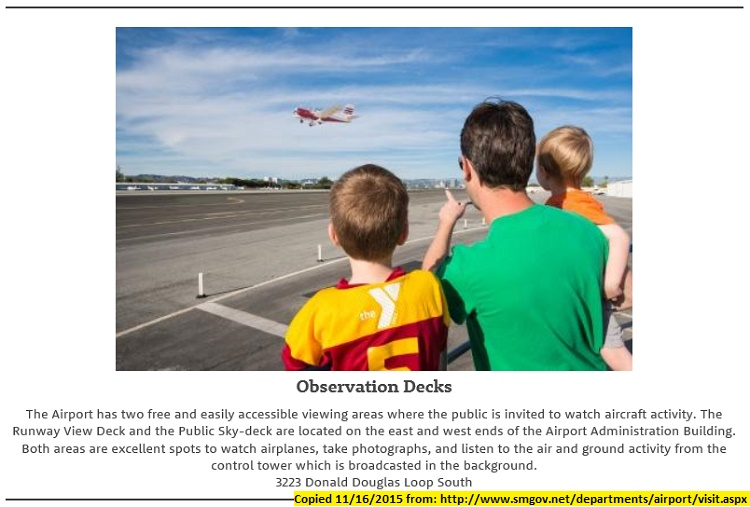 KSMO.20151116cpy.. Promo for use of Airport Observation Decks