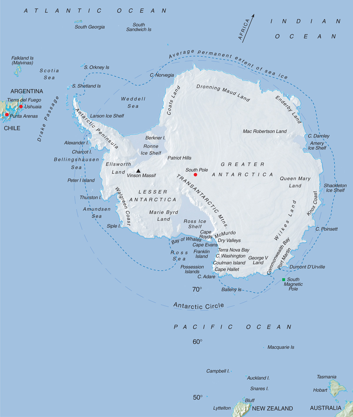 Maps Of The Arctic Ocean And Antarctica Aviation Impact Reform Page 2