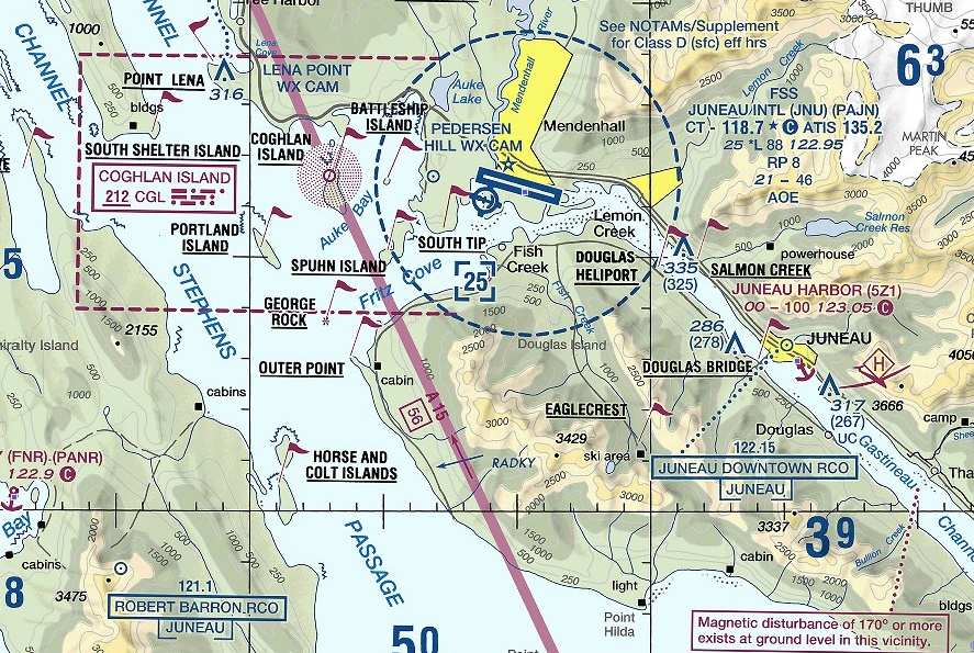 (click on image to view source VFR sectional at FlightAware)