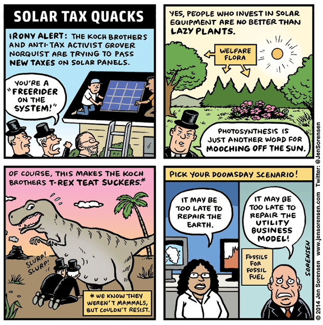 SolarTaxQuacks cartoon (J.Sorensen)